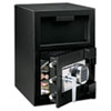 Depository Safe, .94 ft3, 14w x 16d x 20h, Black