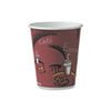 SOLO Cup Company Bistro Design Hot Drink Cups, Paper, 10oz, Maroon, 300/Carton