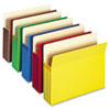 3 1/2&quot; Accordion Expansion Colored File Pocket, Straight Tab, Ltr, Asst, 25/Box
