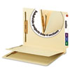 Manila End Tab Classification Folder, 1 divider, Straight Cut Tab, 50/BX