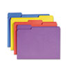 Antimicrobial Folders, 1/3 Cut Top Tab, Letter, Assorted Colors, 100/Box
