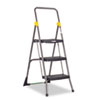 Commercial 3-Step Folding Step Stool, 300lb Duty, 20-1/2wx32-5/8dx52-1/8h, Gray