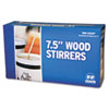 Royal Paper Wood Coffee Stirrers, 7 1/2