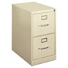 H410 Series Two-Drawer Locking Vertical File, 15w x 22d x 26-1/16h, Putty
