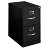 H410 Series Two-Drawer Locking Vertical File, 15w x 22d x 26-1/16h, Black