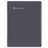 "Recycled Eight-Person Group Daily Appointment Book, Black, 8 1/2"" x 11"", 2013"