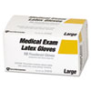 Acme United Powdered Latex Medical Exam Gloves, Large, 10/Box