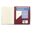 GBC IMPACT Frosted Front Report Cover with Tall Pocket, 11 x 8-1/2, Burgundy, 5/Pack