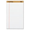 The Legal Pad Plus Perforated Pads, Legal Rule, 8 1/2x14, White 50 Sheets, 12/Pk