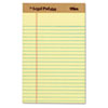 The Legal Pad Plus Ruled Perforated Pads, 5 x 8, Canary, 12/Pack