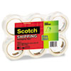 "3500 Packaging Tape, 1.88"" x 54.6yds, 3"" Core, Clear, 6/Pack"
