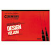 Clearprint 10001416 Design Vellum Paper, 16lb, White, 11 x 17, 50 Sheets/Pad CHA10001416 CHA 10001416