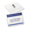Avery Badge Holders w/Laser/Inkjet Inserts, Top Loading, 3 x 4, White, 100/Box