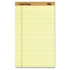 The Legal Pad Plus Ruled Perforated Pads, 8 12 x 14, Canary, 12/Pack