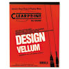 Clearprint 10001410 Design Vellum Paper, 16lb, White, 8-1/2 x 11, 50 Sheets/Pad CHA10001410 CHA 10001410