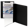 Smead Accent Series Poly Report Cover, Binding Clip, Letter, Black, 5/Pack