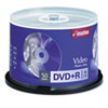 DVD+R Recordable Discs on Spindle, 4.7GB, Silver, 50/Pack