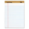 The Legal Pad Plus Ruled Perforated Pads, 8 12 x 11 3/4, White, 12/Pack