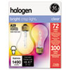 Halogen Bulb, Globe, 72 Watts, 2/Pack