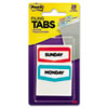 Preprinted File Tabs, 1 3/4 x 1 1/2, Mon.-Sun., 28/Pack