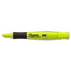Accent Grip Highlighters, Chisel Tip, Fluorescent Yellow, 12/Pk