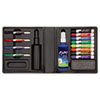 Dry Erase Marker/Eraser/Cleaner, Chisel/Fine, Assorted, 12/Set