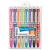 Liquid Flair Porous Point Stick Pen, Assorted Ink, Medium, 8 per Set