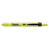 Accent Retractable Highlighters, Chisel Tip, Fluorescent Yellow, 12/Pk