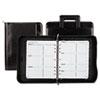 Day-Timer Faux Croc Vinyl Starter Set Organizer, 8-1/2 x 11, Black