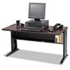 Computer Desk W/ Reversible Top, 48w x 28d x 30h, Mahogany/Medium Oak/Black