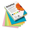 BriteHue Multipurpose Card Stock, 65 lbs., Letter, Assorted, 125 Sheets