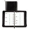 Day-Timer Faux Croc Vinyl Starter Set Organizer, 5-1/2 x 8-1/2, Black