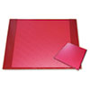 Aurora Products Eco-Friendly Croc Embossed Desk Pads and Mouse Pads, 24 1/2 x 19, Red