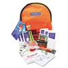 Emergency Preparedness First Aid Backpack, Contains 63 Pieces