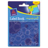 Avery Removable Label Pad Books, 1 x 3 Green & 2 x 3 Blue, Blue Circles, 80/Pack