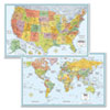 M-Series Full-Color U.S. and World Maps, Paper, 32 x 50