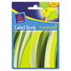 Removable Label Pad Books, 1 x 3 Yellow & 2 x 3 Green, Green Wavy, 80/Pack