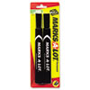 Marks-A-Lot Permanent Marker, Large Chisel Tip, Black, 2 per Pack