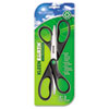 "KleenEarth Recycled Scissors, 8"", Black, 2/PK"