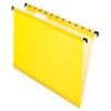 Pendaflex SureHook Poly Laminate Hanging Folders, Letter, 1/5 Cut, Yellow, 20/Box