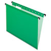 Pendaflex SureHook Poly Laminate Hanging Folders, Letter, 1/5 Cut, Bright Green, 20/Box