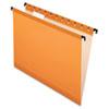 Pendaflex SureHook Poly Laminate Hanging Folders, Letter, 1/5 Cut, Orange, 20/Box