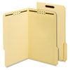 "Antimicrobial Fastener Folder, 3/4"" Exp, 2 Fasteners, Legal, 50/BX"