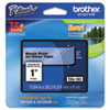 Brother P-Touch TZe Standard Adhesive Laminated Labeling Tape, 1w, Black on Clear