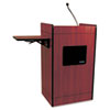 Multimedia Smart Computer Lectern, 25-1/2w x 20-1/4d x 43-1/2h, Mahogany