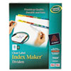 Avery Index Maker Divider w/Multicolor Tabs, 8-Tab, Letter, 25 Sets/Box