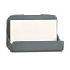 Recycled Plastic Cubicle Business Card Holder, 4 x 2 1/4 x 2 3/8, Charcoal