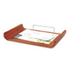 Desk Tray, Single Tier, Bamboo, Letter, Cherry