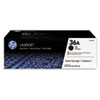 CB436AD (HP 36A) Toner Cartridge, 2000 Page-Yield, 2/Box, Black