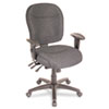 Alera Wrigley Series Mid-Back Multifunction Chair, Charcoal, Adjustable Arms